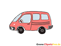 Omnibus Clipart, Bild, Cartoon, Comic, Grafik