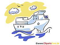 Ozean Liner Clipart, Bild, Illustration, Grafik gratis
