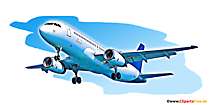 L'avion de passagers décolle l'illustration, l'image, l'art numérique
