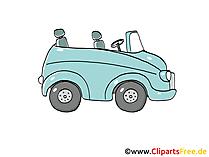 Personenwagen - PW Clipart, Bild, Cartoon, Comic, Grafik