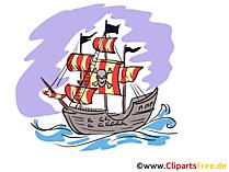 海賊船の画像、クリップアート、GIF、グラフィックス
