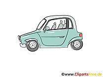 Pkw - Personenkraftwagen Comic, Clipart, Bild, Cartoon, Grafik