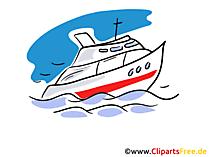 Privat Yacht Illustration, Clipart, Grafik, Bild