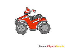Quadricycle, Vierrad Clipart, Bild, Cartoon, Comic, Grafik