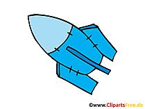 Rakete Bild, Clipart, Illustration, Grafik, Zeichnung kostenlos