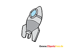 Rakete Comic Bild