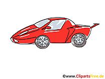 赤いスポーツカーのクリップアート、画像、図、漫画、コミック