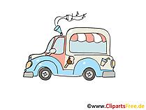 Reisemobil Clipart, Bild, Cartoon, Comic, Grafik