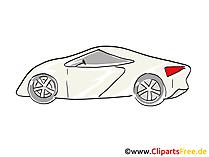 Roadster Bild, Clipart, Image, Comic, Zeichnung