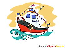 Schleppboot Clipart, Bild, Cartoon, Grafik kostenlos