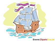 Schoner Clipart, Illustration, Bild, Grafik gratis