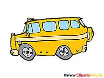 Schulbus Bild, Clipart, Illustration, Grafik, Zeichnung kostenlos