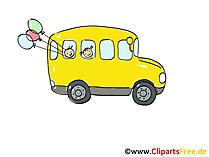 スクールバスの黄色のクリップアート、画像、漫画、コミック、グラフィック