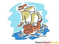 Segelschiffe Bilder, Cliparts, Cartoons gratis