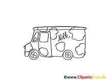 おもちゃの車の絵、モノクログラフィック、クリップアート、絵