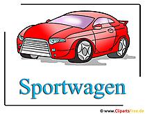 スポーツカーのクリップアートフリーカー