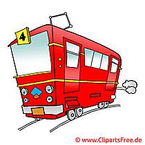 Strassenbahn Bild, Cartoon, Clipart, Grafik, Illustration