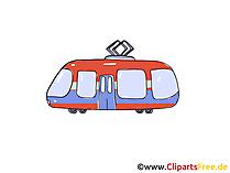 Strassenbahn Clipart, Bild, Cartoon, Comic, Grafik