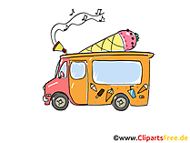 Suesswaren Wagen Clipart, Bild, Cartoon, Comic, Grafik