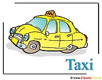 タクシークリップアート画像無料