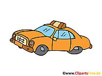 タクシー、カート、車のイメージ、クリップアート、図、グラフィック、デッサン