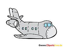 Transportflugzeug Bild, Clipart, Illustration, Grafik, Zeichnung kostenlos