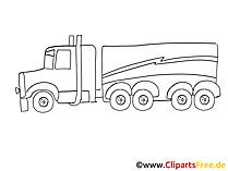 Truck Zeichnung, Grafik schwarz-weiss, Clipart, Bild