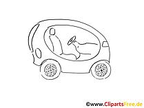 Wagen Zeichnung, Grafik schwarz-weiss, Clipart, Bild