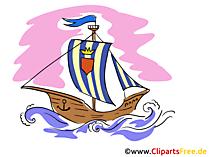 Wikingerschiff Bild, Illustration, Clip Art kostenlos