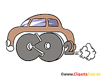 Exhaust gases from cars stock illustration, picture, clip art