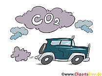 Car without particulate filter clipart, stock image, illustration