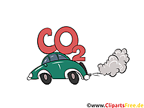 CO2 emissions from cars illustration, picture, graphic