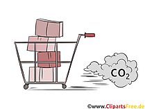 Co2 trading stock illustrazione, foto, clip art