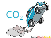 Air pollution from cars stock illustration, picture, clip art