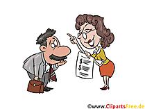 Finanzamt-Prüfung, Betriebsprüfung Illustration, Bild, Grafik, Clipart