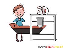 3D Printer Clipart, Illustration, Pic