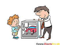 Industrielle 3D Drucker in der Automobilindustrie Clipart, Illustration, Bild