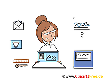 Home Office Clipart, afbeelding, illustratie