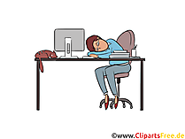 Fatigué de travail clip art, photo, illustration