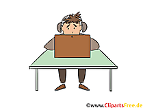 Étudiant discutant sur internet clipart, photo, illustration