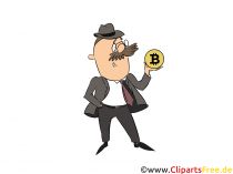 Bitcoin investerarbild, clipart, illustration