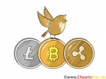Bitcoin 및 Altcoins 클립 아트