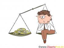 암호화 거래 기회 및 위험 클립 아트