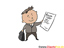 Arbeitsvertrag Clipart, Illustration, Bild, Grafik gratis