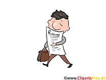 Bewerbung verschicken Clipart, Illustration, Bild, Grafik gratis