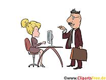 Vorstellungsgespräch Clipart, Illustration, Bild, Grafik gratis