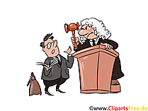 Gericht Clipart, Bild, Illustration, Image