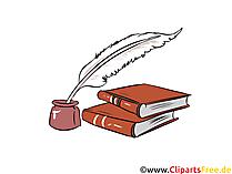 Gesetzbücher Cliparts, Feder Illustrationen