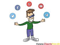 Gambar, jejaring sosial clipart