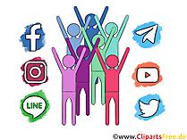 Jejaring Sosial Clipart gratis